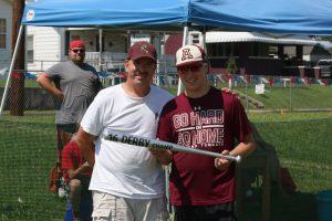 Tournament director Sam Beason with HR Derby winner Scott Busch.